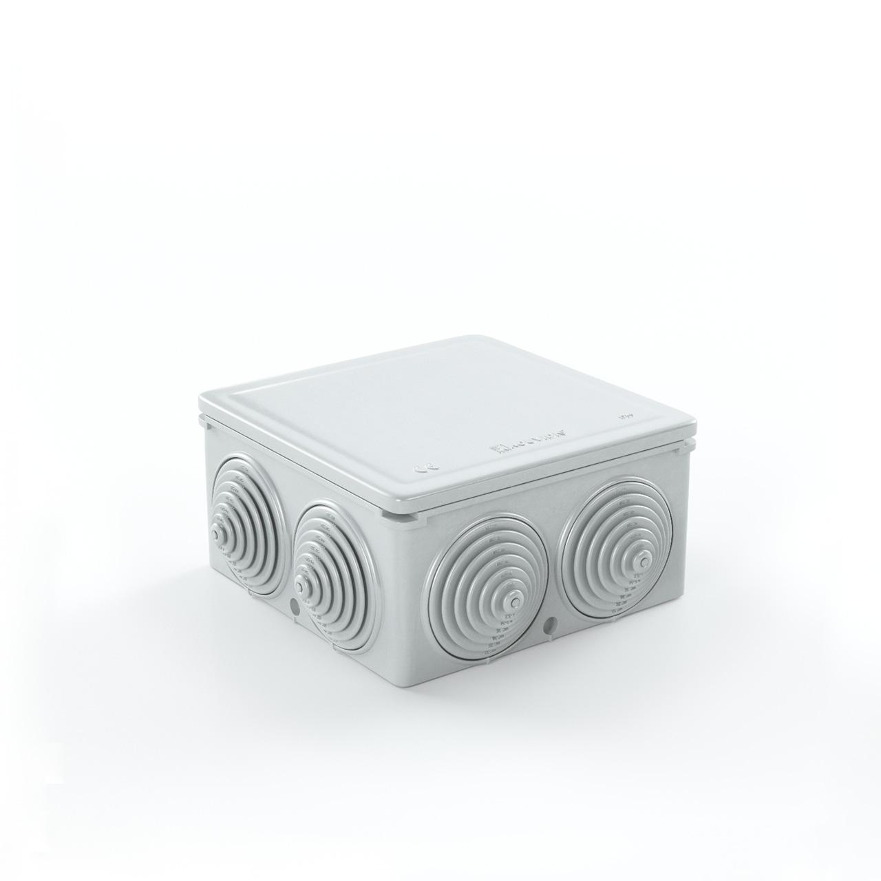 Στεγανό Τετράγωνο Κουτί Διακ/Σεως Condur Με Βαθμιδωτές Τάπες Φ16/20