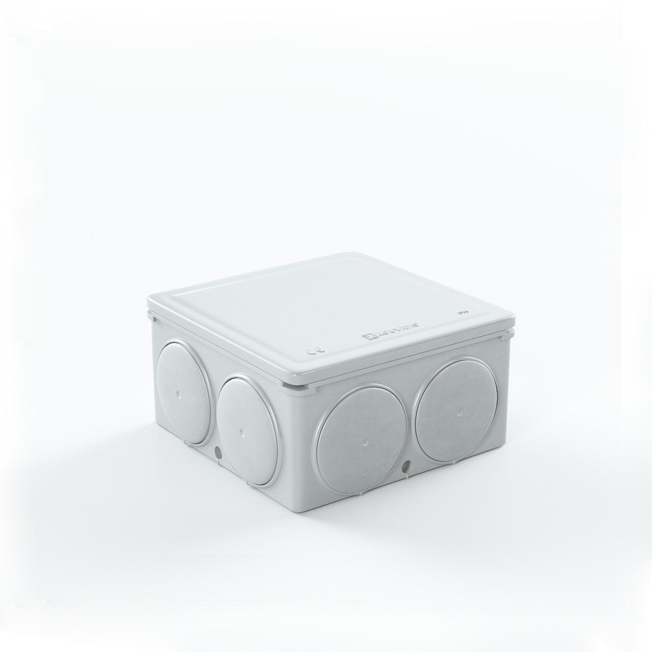 Στεγανό Τετράγωνο Κουτί Διακ/Σεως Condur Iar Με Ίσιες Τάπες Φ16/20
